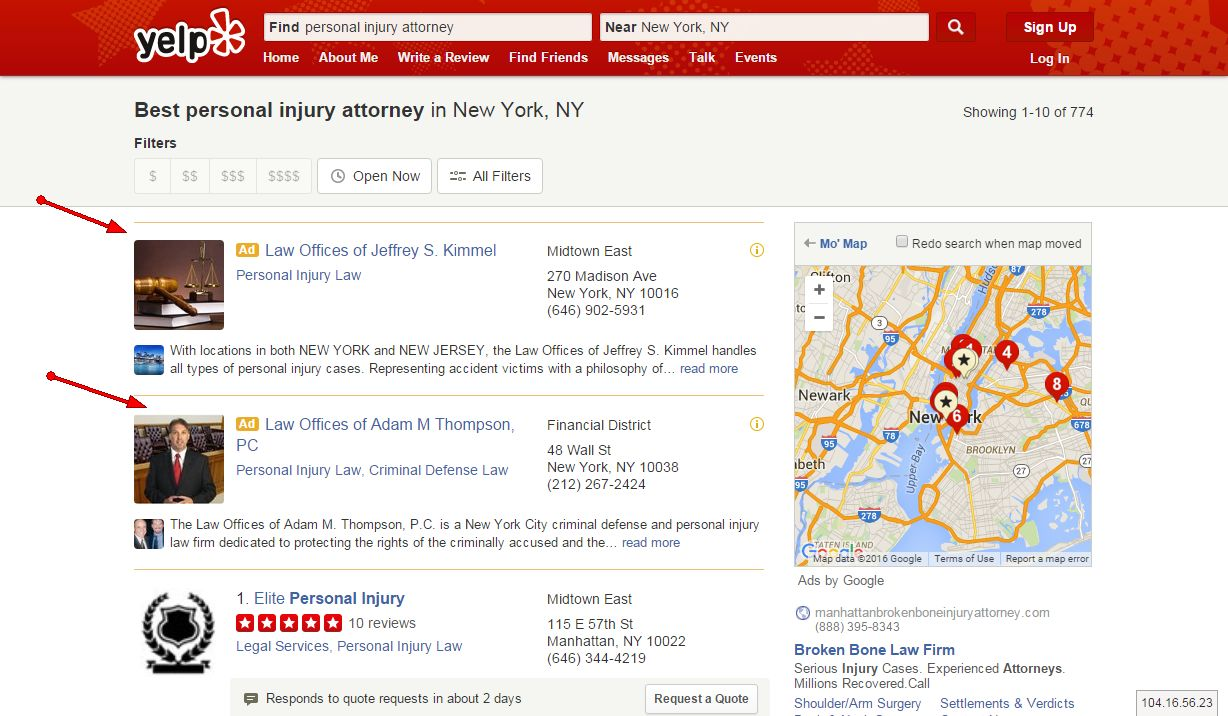 Should You Advertize Your Firm On Yelp ?