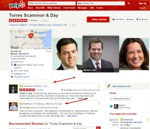 Yelp Advertizing in other business profile